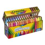 Crayola 48ct Washable Assorted Sidewalk Chalk