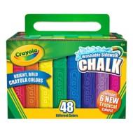 Crayola 48ct Washable Assorted Sidewalk Chalk