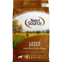 NutriSource Large Breed Adult Lamb Meal and Rice Formula Dog Food