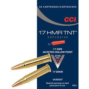 CCI Ammo 17 Rimfire HMR 17gr TNT HP