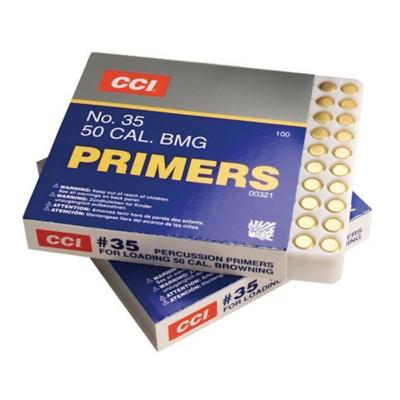 CCI No. 35 50 Caliber BMG Primer Box