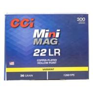 CCI Mini-Mag 22LR 36gr CPHP 300/bx