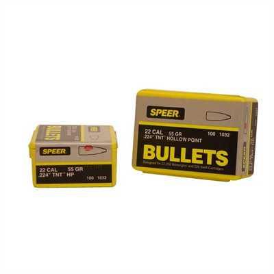 Speer Bullet 22cal .224 55gr HP TNT