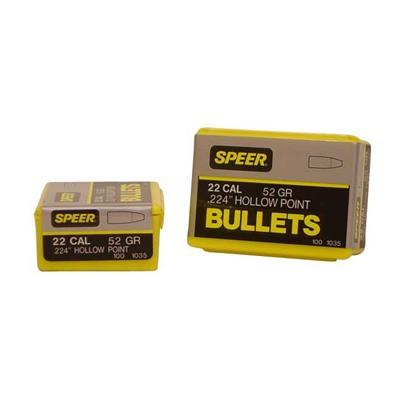 Speer Bullet .22 .224 52GR HP