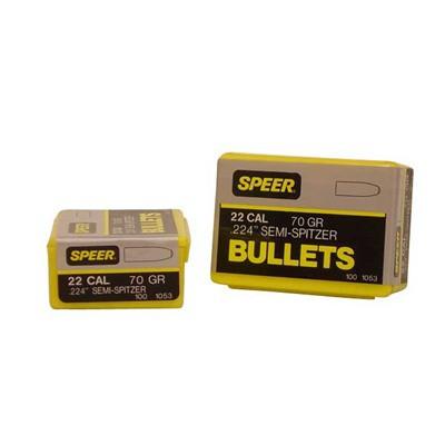 Speer Bullet .22 .224 70gr Semi-Sptz