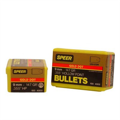 Speer Bullet 9mm .355 147gr GDHP GoldDot HP