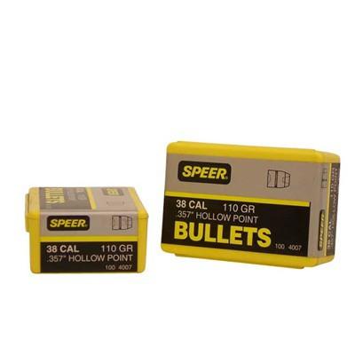 Speer Bullet 38cal .357 110gr JHP