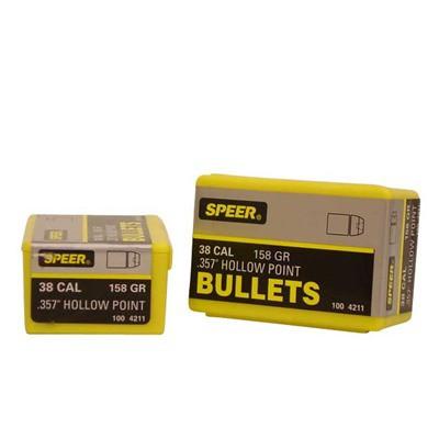 Speer Bullet .38 .357 158GR JHP