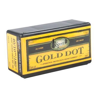 Speer Bullet 10MM(.400in) 400-180-GR GDHP Short Barrel