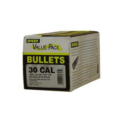 Speer TNT HP 30 Cal 125gr Bullets 500/bx