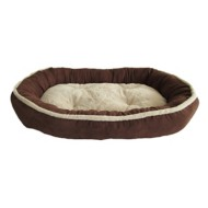 Sleep Zone Sherling Oval Orthopedic Dog Bed