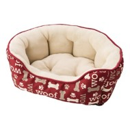Sleep Zone Woof Scallop Shape Dog Bed