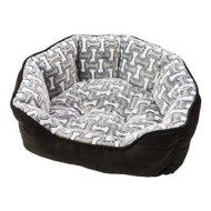 Sleep Zone Bones Scallop Shape Dog Bed