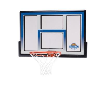 """Lifetime Products 48"""" Fusion Acrylic Basketball Backboard Rim Combo"""