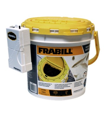 Frabill Insulated Dual Bait Bucket with Clip-On Aerator
