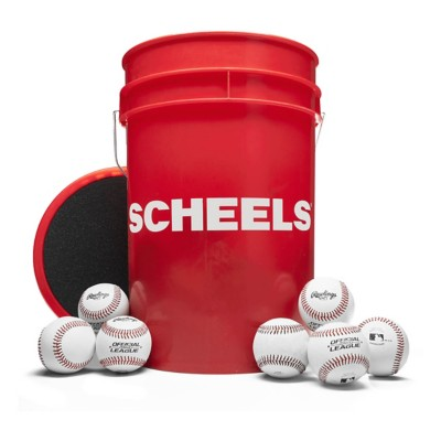 Scheels Rawlings 6 Gallon Bucket of 30 10U Baseballs