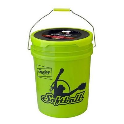 "Rawlings Bucket Of 12"" NCAA Fastpitch Softballs - 18 Count"