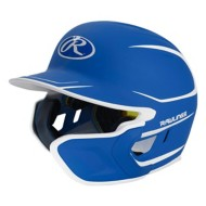 Senior Rawlings Mach Two-Tone Matte Helmet with EXT Flap - Right Handed Batter