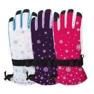 Grade School Girls' Grand Sierra Snowflake Gloves
