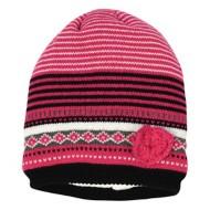 Grade School Girls' Grand Sierra Knit Stripe Heart Beanie