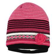 Grade School Girls' Grand Sierra Knit Stripe Heart Beanie