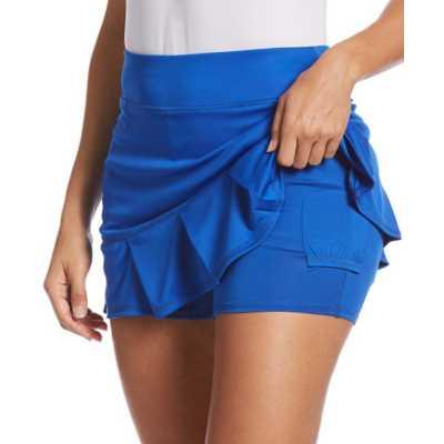Women's PGA Tour Solid Ruffle Pleat Tennis Skort