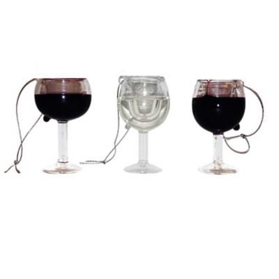 Kurt S Adler Assorted Wine Glass Christmas Tree Ornament