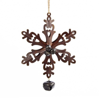 Kurt S Adler Bronze Snowflake Christmas Tree Ornament