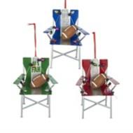 Kurt S Adler Assorted #1 Football Fan Chair Christmas Tree Ornament