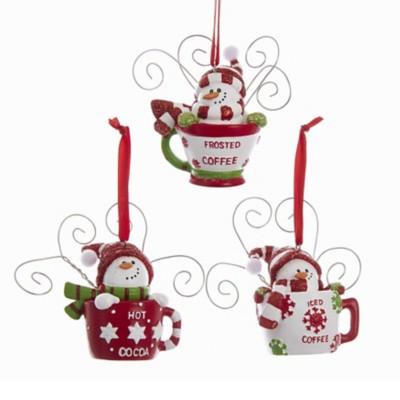 Kurt S Adler Assorted Snowman Cup Christmas Tree Ornament