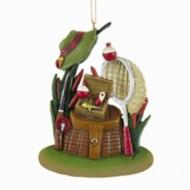 Kurt S Adler Fishing Basket Christmas Tree Ornament