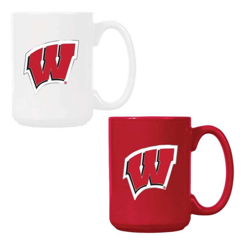 Great American Products Wisconsin Badgers 2pk Mug Gift Set