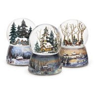 Roman Scenic Winter Snow Globe