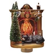 Roman Bear By Fireplace Night Light