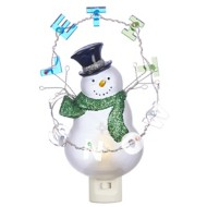 Roman Let It Snow Snowman Night Light