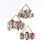 Roman Assorted Word Jingle Ornament