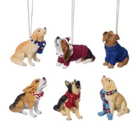 Roman Assorted Howling Dog Ornament