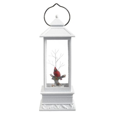 Roman Cardinal LED Lantern Figurine