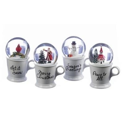Roman Assorted Coffee Cup Dome Ornament