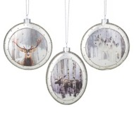 Roman Assorted Silver Animal Disc Ornament