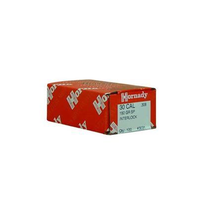 Hornady InterLock 30 Cal .308 150 gr Bullets 100 Ct