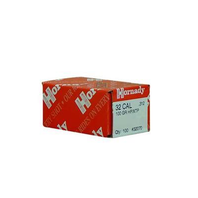 Hornady 32 CAL .312 100 GR HP/XTP