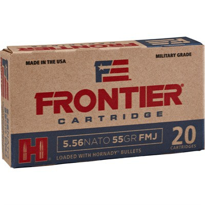 Frontier Ammo 223 rem 55gr SP 20bx,25bx/cs
