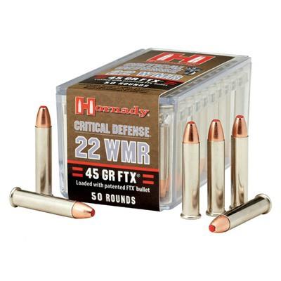 Hornady Ammo, 22 Wmr 45 Gr Ftx, Rds/Bx50, Bx/