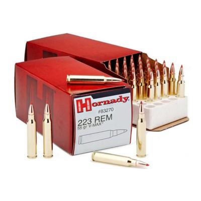 Hornady 223 Rem 55gr V-Max 50/bx
