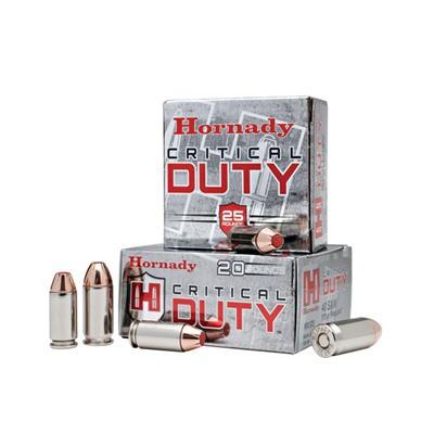 Hornady Critical Duty 45 Auto +P 220gr FlexLock 20/bx
