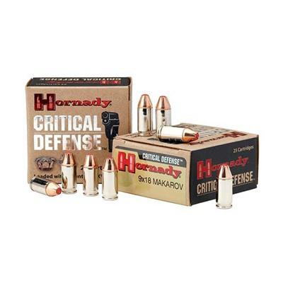 Hornady Ammo, 9x18 Mak 95gr FTX, 25/box