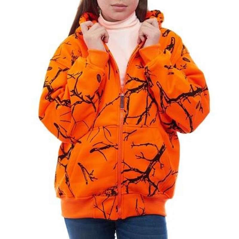 Youth Trail Crest Double Fleece Full Zip Blaze Camo Hoody