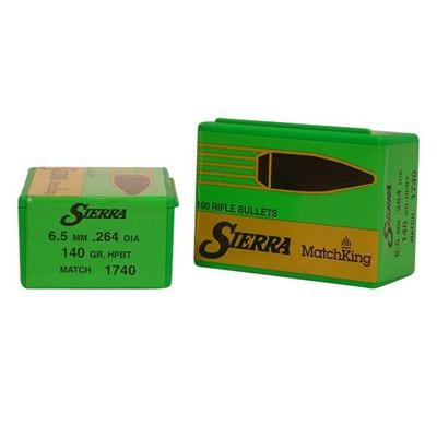 Sierra Bullet 6.5MM .264 140gr HPBT Match