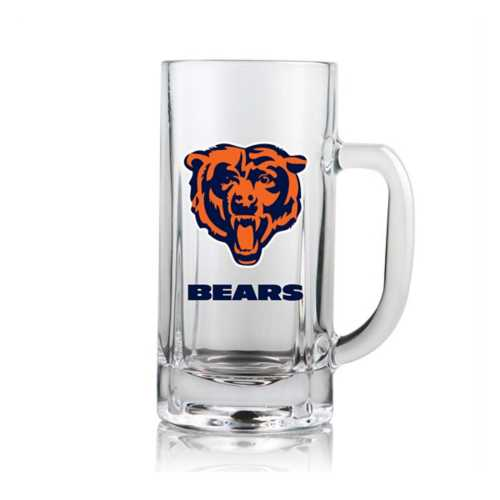 Duck House Chicago Bears Clear Beer Mug